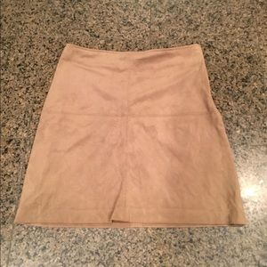 High waisted suede skirt